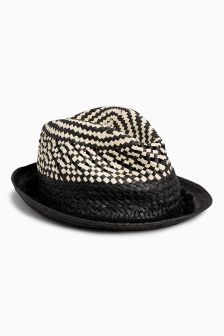 Woven Trilby Hat