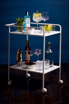 Marble Effect Drinks Trolley