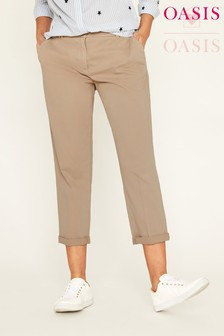 Oasis Natural Emmy Chino Trouser