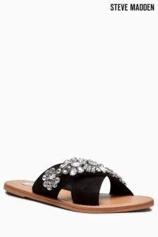 Steve Madden Black Mara Embellished Sandal