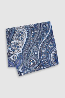 Paisley Pattern Silk Pocket Square