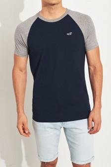 Hollister Navy Muscle Fit T-Shirt