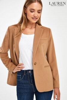Lauren Ralph Lauren Camel Wool Blazer