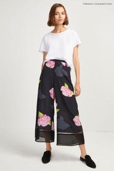 French Connection Black Floral Culottes