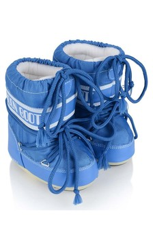 Baby Boys Blue Mini Nylon Snow Boots