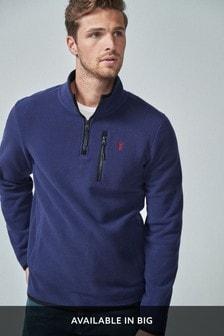 Fleece Zip Neck Pullover