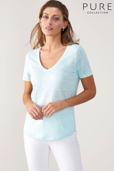 Pure Collection Linen T-Shirt
