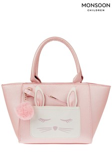 Monsoon Pink Flopsy Purse Pom Tote