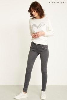 Mint Velvet Grey Darby Skinny Jean