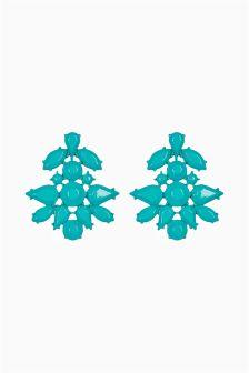 Opaque Jewelled Drop Earrings
