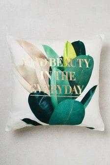 Photo Leaf Word Cushion