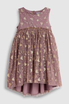 Wheat Girl's Cinderella Print Dress
