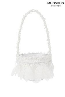 Monsoon Ivory Petal Lace Basket