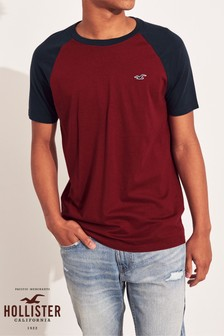 Hollister Burgundy Muscle T-Shirt