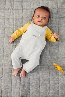 Dungarees And Star Print Bodysuit Set (0mths-2yrs)