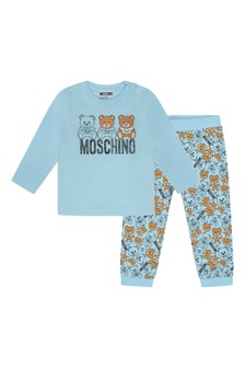 Baby Boys Blue Cotton T-Shirt & Trousers Set
