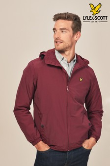 Lyle & Scott Claret Fleece Lined Hooded Jacket
