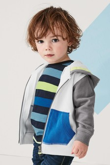 Colourblock Zip Through Hoody (3mths-6yrs)
