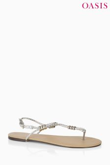 Oasis Silver Prim Toe Post Sandal