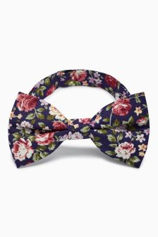 Cotton Floral Bow Tie