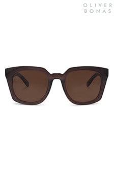 Oliver Bonas Grey Square Wayfarer Sunglasses