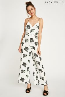 Jack Wills White Selby Wrap Jumpsuit