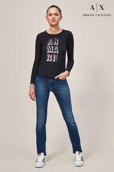 Armani Exchange Mid Wash Mid Rise Jean