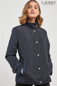Lauren By Ralph Lauren Navy Diamond Quilted Jacket