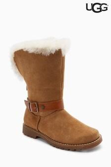 UGG® Kids Chestnut Nessa Buckle Boot