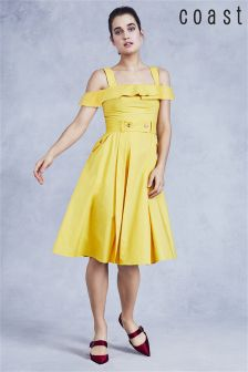 Coast Yellow Sara Cold Shoulder Dress