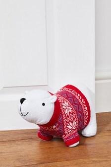 Polar Bear Doorstop