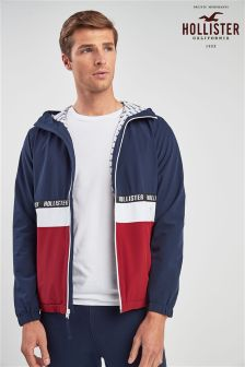 Hollister Navy/Red Colourblock Windbreaker
