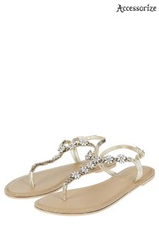 Accessorize Clear Candice Crystal Embellished Sandal
