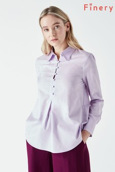 Finery Purple Sulina Poplin Shirt