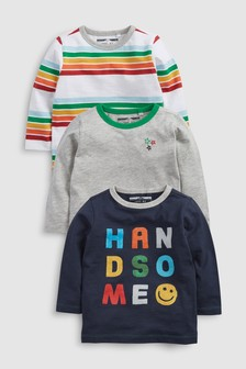 Rainbow Slogan T-Shirts Three Pack (3mths-6yrs)
