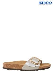 Birkenstock White Big Buckle Madrid Sandals