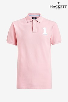 Hackett - Polo classica rosa a maniche corte