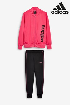 adidas Pink/Black Linear Tracksuit