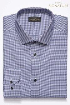Chemise Signature à motif pied-de-poule coupe standard