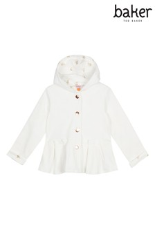 f1be06ab2 baker by Ted Baker Toddler Girls Quilted Sweat Peplum Jacket