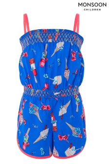 Monsoon Blue Evie Playsuit