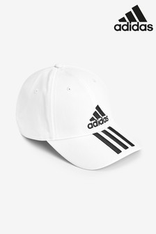 Белая кепка с 3 полосками adidas Adult