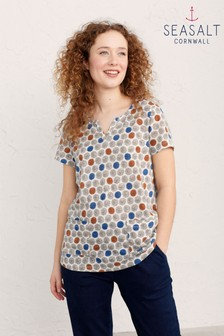 Seasalt Natural Short Sleeve Gypsophilia Top