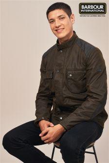 Barbour® International Olive Weir Wax Jacket