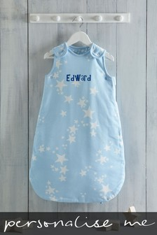 Personalised Blue Stars Sleepbag 2.5 Tog