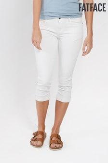FatFace White Garment Dye Crop Jean