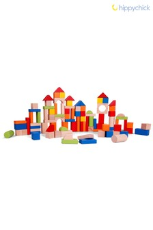 100 Wooden Toy Blocks by Hippychick