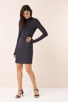 Glitter High Neck Dress