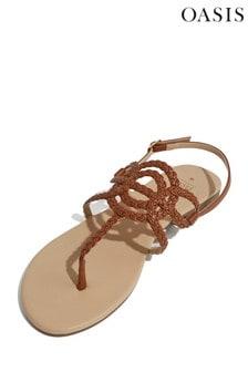 Oasis Tan Tilly Toepost Sandal