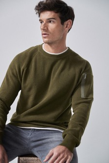 Arm Pocket Crew Jumper